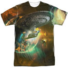 Star Trek Enterprise D Battle One Side Sublimation Adult T-shirt