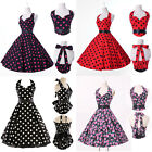 GRACE KARIN POLKA DOT PINUP SWING 1950's HOUSEWIFE VINTAGE ROCKABILLY PROM DRESS