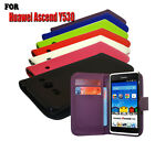 7 Colour Wallet Flip Protective Leather Phone Case Cover For Huawei Ascend Y530
