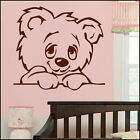 LARGE NURSERY BABY TEDDY BEAR WALL STICKER TRANSFER IN NEW SIZES POSTER DECAL