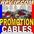 PROMOTION  CABLES 5M 10M 20M 30M 40M Cable RCA Video Audio Alimentation Camera