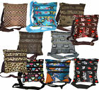 10 Various Design Fashion Unisex Cross Body Messenger Bag With Adjustable Strap