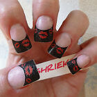 3D Nail Art Stickers  Glitter  French Tips  Red  Lips  3d nail Decorations STI04