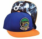 """Flat Fitty """"Chiefin"""" Snapback Cap Smoke 50 Cent Hat, Blue, One Size"""