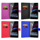 For Sony Xperia Z Ultra C6802 C6806 C6833 Phone Wallet Flip Case Cover