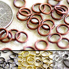 6mm Plated Brass Round Jump Ring jewelry making Finding 20gauge ring m76 (100pcs