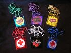 """YOUR CHOICE of 1 """"CONDOM POUCH HOLDER"""" MARDI GRAS NECKLACE BEADS FUN GAG ITEM"""