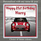 PERSONALISED COASTER 18TH 21ST 30TH 40TH 50TH ANY AGE MINI BIRTHDAY XMAS GIFT #A