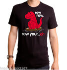 Sad Tyrannosaurus T Rex Dinosaur Dino Row Row Your Boat oh short arm T-shirt top