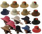 Ladies Women Fashionable Wide Brim Beach Foldable Big Bow Straw Sun Hat Cap