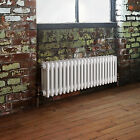 White Horizontal 3 Column Radiators Cast Iron Style Bathroom Central Heating