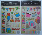 You Choose! ~BIRTHDAY BOY OR GIRL~ The Paper Studio Stick-A-Bilities Stickers