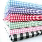 GINGHAM WITH STRETCH COTTON FABRIC  heavier weight material