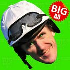 A P McCOY (Tony) BIG A3 or LIFE-SIZE Face Mask - GRAND NATIONAL HORSE CHELTENHAM