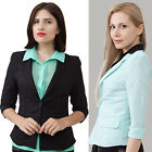 One button linen jacket solid black or blue S, M, L