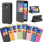 S-View Flip PU Leather Case Cover Protector Skin For Samsung Galaxy S5 SV I9600