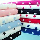FQ - STARS - 100% FINE COTTON POPLIN FABRIC CHOOSE YOUR COLOR children nursery