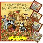 SPX CATS DOGS BIRDS FLORAL SAYINGS WORDS FABRIC PANELS  (MAKE A SELECTION)