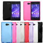 S Line Wave Slim TPU Gel Back Case Cover Skin For Sony Xperia M2