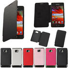 Slim Flip PU Leather Hard Case Cover For Samsung Galaxy S2 i9100 6 Colors