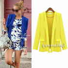 Autumn Women Office Long Sleeve Slim Suits Casual Blazer Jacket Coat Outerwear