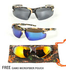 Camouflage Sport Sunglasses Hunting Wrap Fishing Outdoor Black Duck Mirror Revo