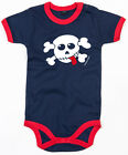 ROCKO RED TONGUE Ringer Baby Body navy/red