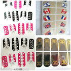 OWLS, COUNTRY FLAGS or LACE-UP BODICE NAIL ART FOILS WRAPS STICKERS MANICURE UK