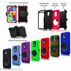 For Samsung Galaxy S5 SV i9600 Rugged Impact Hybrid Back Case Cover Clip Holster