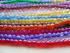 Crackle glass beads TWO sizes -  4mm and 10mm  (c)