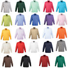 New PREMIER Mens Business Work Smart Long Sleeve Poplin Shirt 24 Colours 13 Size