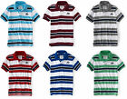 Aeropostale Embroidered A87 Triple Color Striped Mens Jersey Polo Shirt Sz 3XL