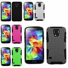 Mesh Durable Combo Hybrid Silicone Case Cover for Samsung Galaxy S5 SV