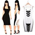 Sexy Lady Women Low-Cut Clubwear Cocktail Party Club Bandage Bodycon Slim Dress