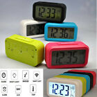 5 Colors LED Snooze LCD Digital Backlight Alarm Clock Date Light Sense Control