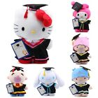 JAPAN SANRIO HELLO KITTY/MELODY/POCHHACO/PEKKL 30 CM GRADUATION GIFT PLUSH DOLL