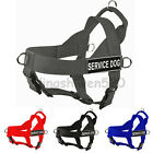 New Style Quick Nylon Working Service Dog Harness with Handle 4D Large Dog