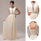 STOCK Chiffon Wedding Evening Gown Long Prom Party Homecoming Bridesmaid Dress