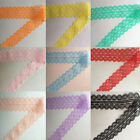 Cute! 10 /50 /100 Yard  Embroidered Net Lace Trim Ribbon multicolor choice