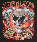 Outlaw Forever Biker Motorcycle T shirt FREE Shipping