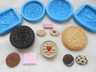 1x Sugarcraft/FIMO Mould: BISCUIT - Jammie Dodger Oreo Cream Style Cookie Mini