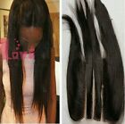 "100% Brazilian Virgin human Hair Lace Closure straight hair 5""x5"" natural color"