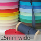 "Colours A: 10m Metre 1"" Bias Binding 25mm Tape Super Soft Best Good Quality Brig"