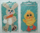 YOU CHOOSE! ~EASTER BUNNY or CHICK~ Prima Flowers Tear Bear Embellishments