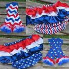 """NEW Red White Blue Chevron Stars Bloomers 6-24 Months Leg Warmers 12"""""""