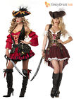 Deluxe Ladies Sexy Pirate Lady Costume Womens Fancy Dress Outfit Sizes 6 - 16