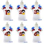 NEW Girls Embroidered Snow White Princess Bling Red 1st-6th Birthday Tank Top