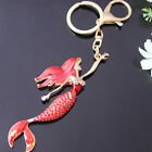 Pretty Fish Mermaid Key Chain Rhinestone Crystals Purse Bag KeyChain Gift YSK92