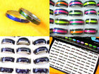 New Wholesale Lots 100Pcs Width 3mm-10mm Fashion Colorful Mood Rings