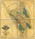 1865 OFFICIAL LAND OWNERSHIP MAP NAPA COUNTY CA Largest Size